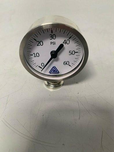 Used Anderson-Negele EK06901100211 Pharmaceutical Series Pressure Gauge 0-60 PSI