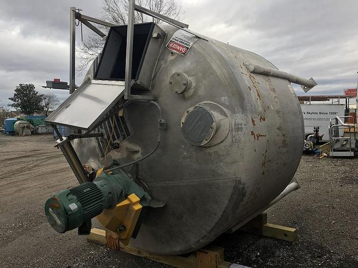 Used 2,000 GALLON MIX TANK – 5 HP – T-304 S/S (#9713)