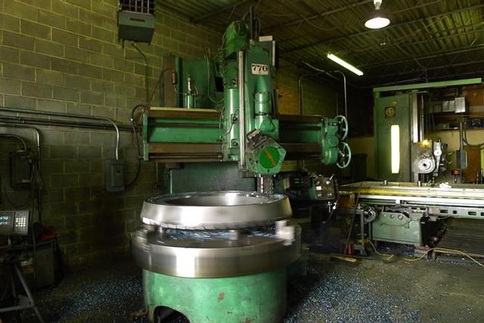 """72"""" Webster Bennett Vertical Boring Mill 86"""" Swing, 62"""" H/UR, DRO"""