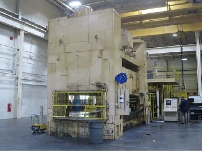 "500 ton Verson 180""x108"" Blanking Press Line with Feedline"