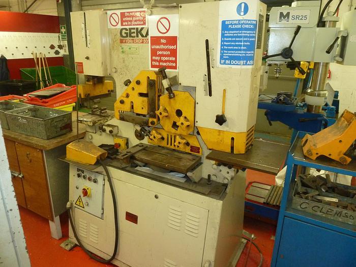 Used Geka HYDRACROP HYD -50 Ton 2 Cylinder steelworker