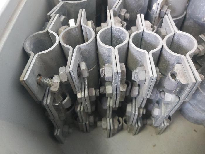 22 Stück Erdungsschelle, schwere Ausführung, D 32 bis D 40mm,  neuwertig