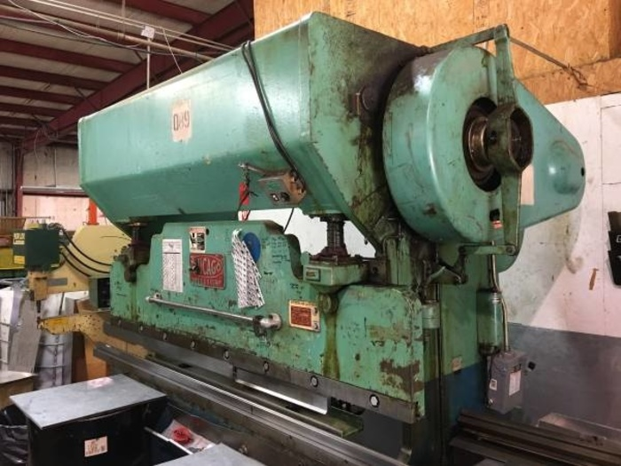 Chicago mechanical press brake 90 ton x 8'