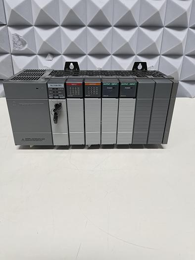 Used Allen Bradley SLC 500 Power Supply 1746-P2 w/ SLC 500 1747-L542 Processor Unit