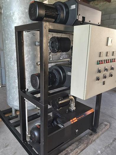 Gebraucht Zentrale Vakuumanlage mit 3 Vakuumpumpen, max. 450m³/h, VB.MM 0140-A3-1, Busch,  gebraucht