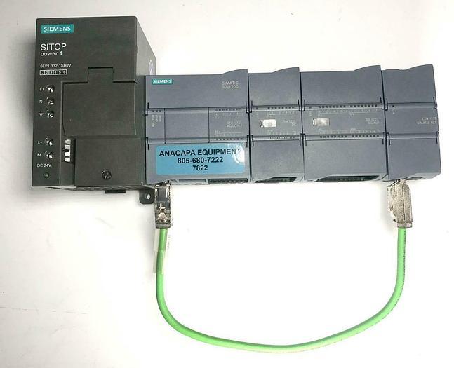 Used Siemens S7-1200 CPU 1212C w/ SM 1221 SM1223 CSM 1277 & 6EP1 332-1SH22 SET (7822)