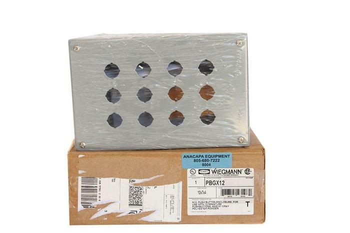 """Hubbell Wiegmann PBGX12 Enclosure Box 10x7x4"""" New (8004)W"""
