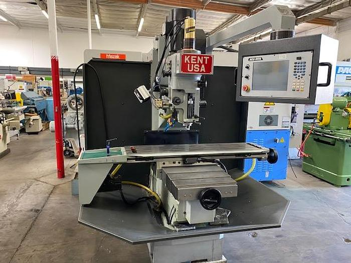 "Used 2014 KENT TW-32Qi CNC TOOLROOM BED MILL Cnc or Manual / xyz 32"" x 18"" x 18""  Table 12"" x 50"""