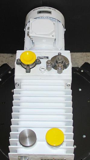 Used Alcatel ZM2033 CP+ Dual Stage Rotary Vane Vacuum Pump, 1.5HP Rebuilt (7776) W