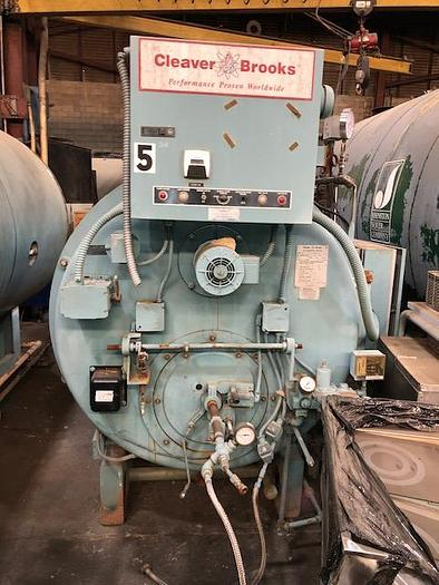 Used 2003 Cleaver Brook 100 HP steam Boiler 150 PSI  CB-200-100