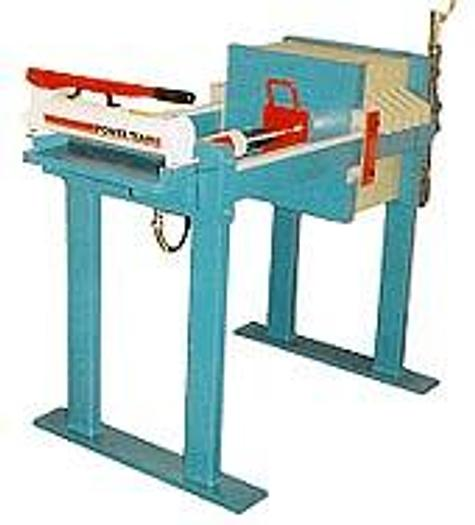 Used 2 CU. FT. 470 MM FILTER PRESS WITH MANUAL HYDRAULIC CLOSURE (NEW)