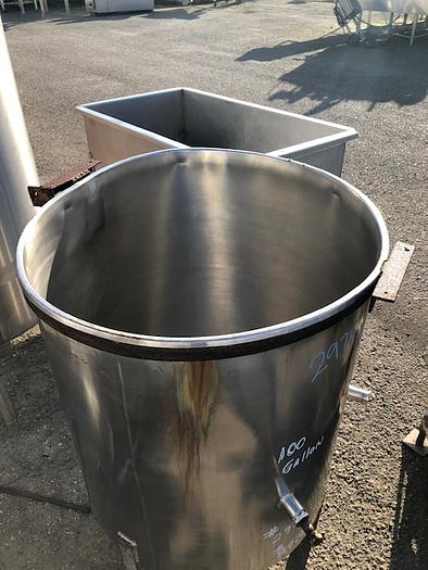 100 Gallon Vertical Stainless Steel Tank