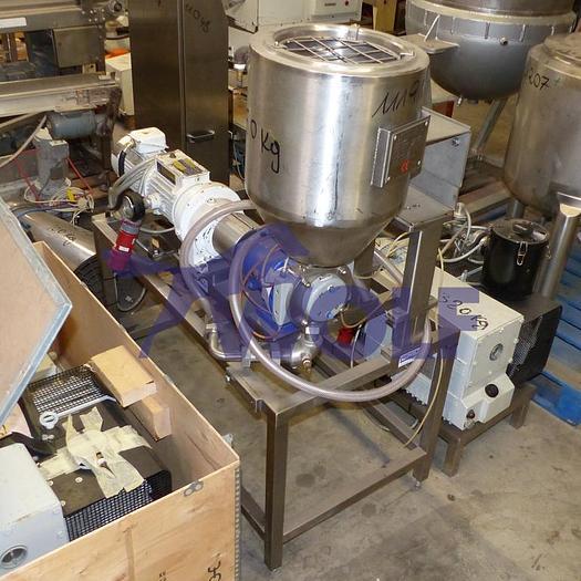 Gebraucht Edelstahl-Behälter ca. 50 Liter Inhaltmit Massepumpe ALFA LAVAL NMOG/422.