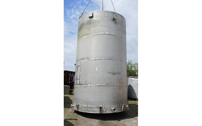 USED 8900 GALLON TANK, API 650, 316L STAINLESS STEEL