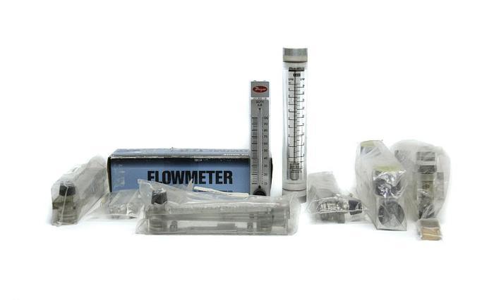 Used Dwyer VFC-141 RMA-42, RMB-85-SSV, 40750L, RMB-53-SSV Flowmeters Lot of 10 (5169)