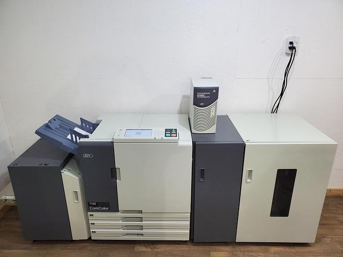 Used Riso ComColor 7150 X1 Full Color Printer with High Capacity Feeder/Stacker and IS950C RIP Print Controller