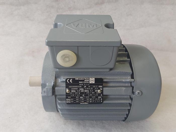 Elektromotor mit Flansch, K21R 71 G 6, 0,25 KW, 920 rpm, VEM,  neu