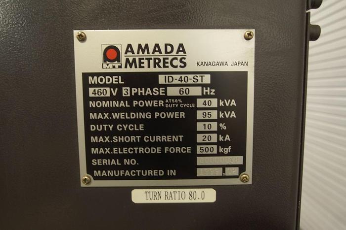 Amada ID-40-ST Micro Computer Controlled Spot Welder ID-40-ST
