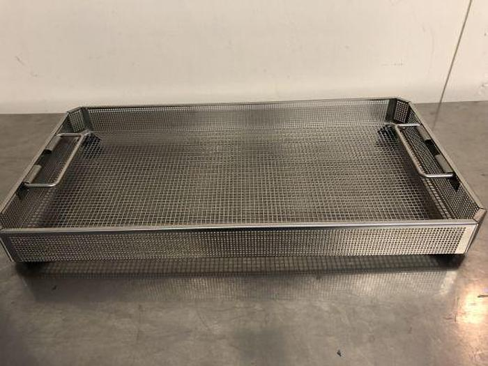 Used Aesculap Tray Sterilisation Stainless Steel 490 x 260 x 50mm