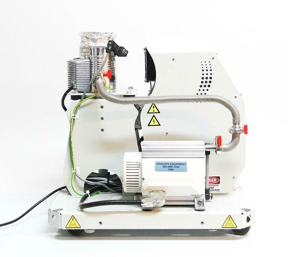 Used Edwards EXT75DX Turbo Molecular Pump, XDD1 Diaphragm, Controller & TIC Cart 7088