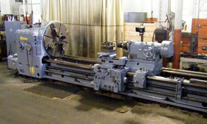 "Used 1965 Skoda Engine Lathe, 49"" x 200"" 38"" SOC"