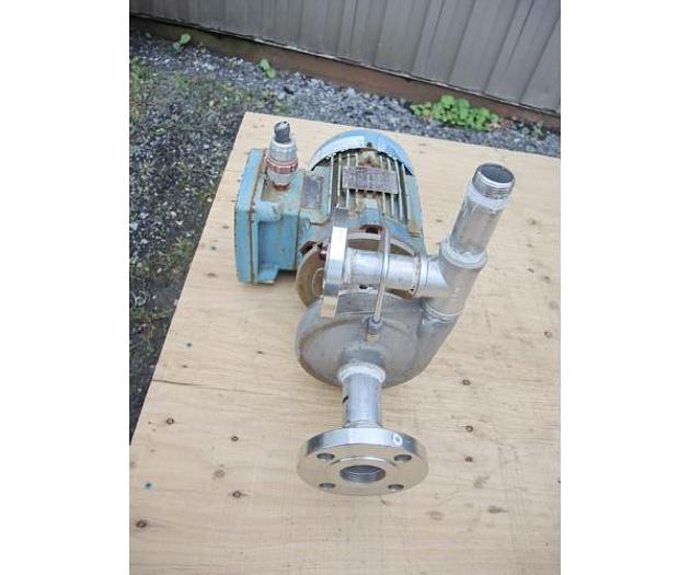 "USED CENTRIFUGAL PUMP, 1.25"" X 1"" INLET & OUTLET, 316 STAINLESS STEEL, XP MOTOR"