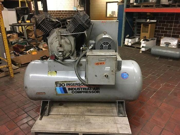 Used Ingersoll Rand T30 Air Compressor,2 Stage,15 HP 3-Phase 30T11120H