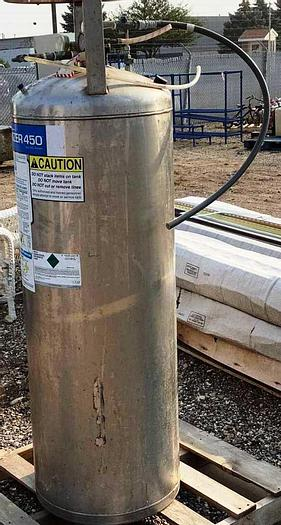 Used Carbo Mizer 450 Stainless Steel CO2 Tank Carbo Mizer 450 Stainless Steel CO2 Tank, Currently Empty, 48 Gallons, 300 PSI Max.
