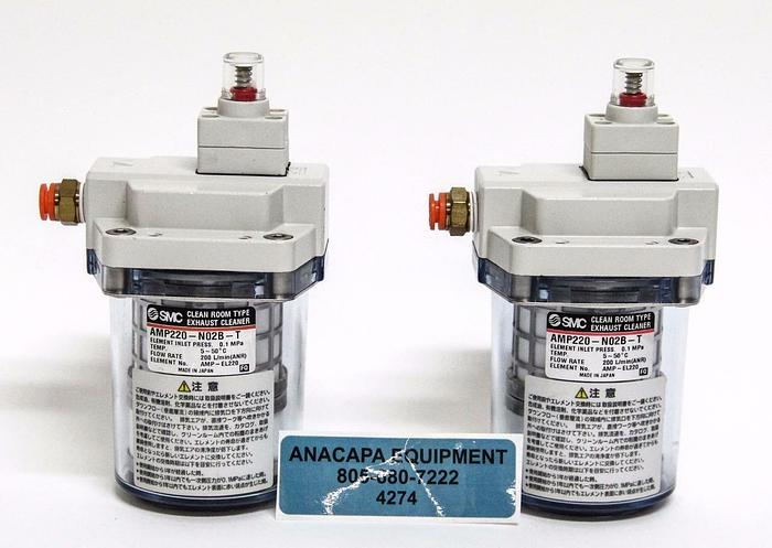 Used SMC AMP220-N02B-T Clean Room Type Exhaust Cleaner Lot of 2 Class 100  (4274)
