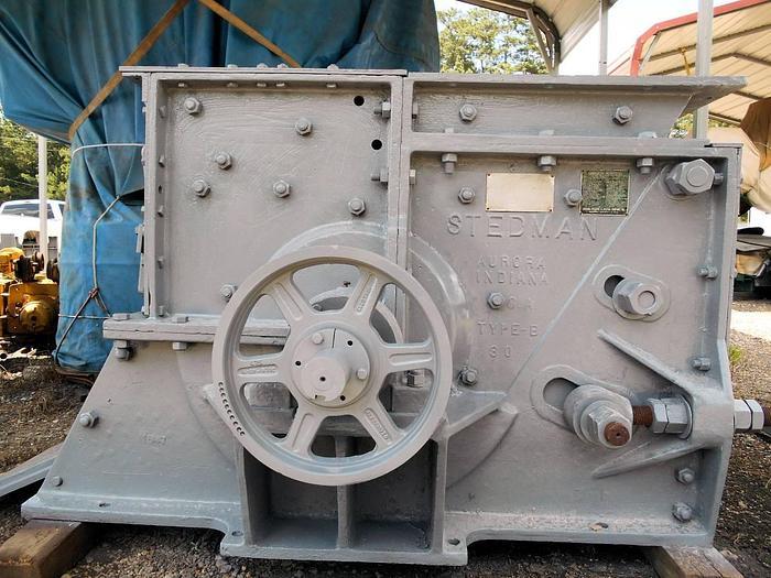 Used Stedman Wood hammer mill Hog Grinder Mulcher Plastic
