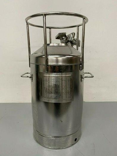 Used DCI 35L Stainless Steel Pressure Vessel 40 PSI @ 100° F