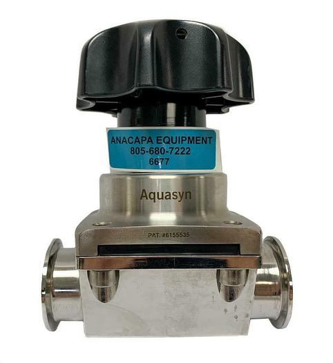 "Used Aquasyn Sanitary 2.5"" 316L Two-Way Diaphragm Valve (6677)W"
