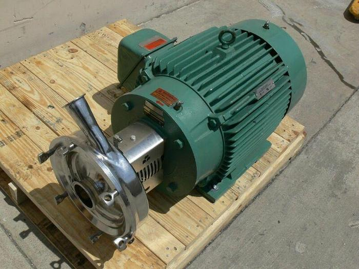 Used Tri-Clover Industrial Size  Sanitary Centrifugal Pump w/ a 40HP Reliance Motor