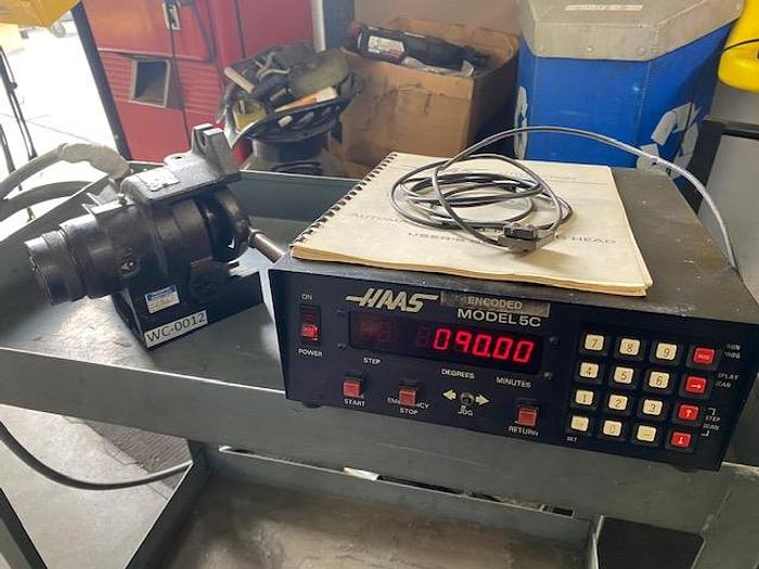 Used Haas 5C Indexing Head 4th Axis 5c collet Indexer with remote switch #5972