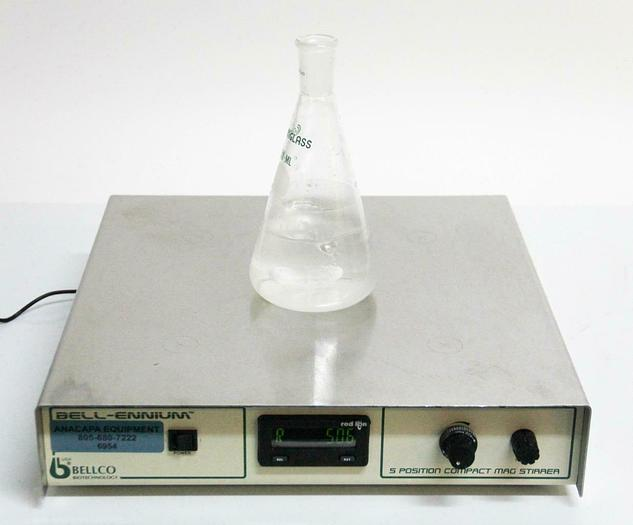 Used Bellco Bell-ennium 7785-D5005 Digital Magnetic Stirrer 5 Position 115v (6954)