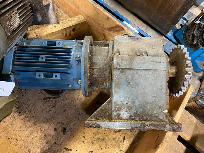 Used ABB Motors Electric motor with reducer 4 kW