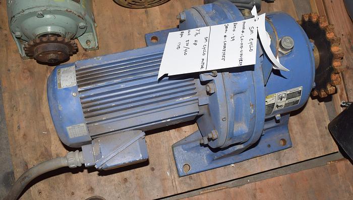 Used SM Cyclo-Sumitomo gear reducer 60RPM, 7 1/2HP, used gear reducer 60 rpm , SM-Cyclo 60rpm gear speed reduce, gear reducer ratio-29,
