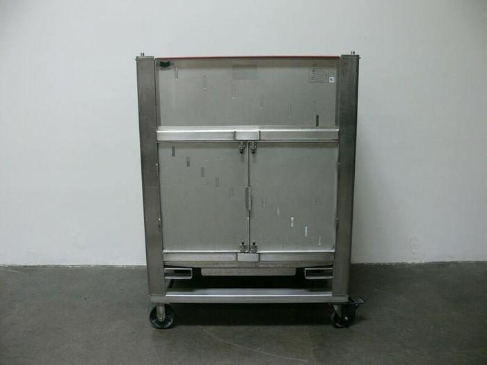 Used ConeCraft Hyclone 1000L Smartainer II Stainless Steel Bin w/ Bottom Opening