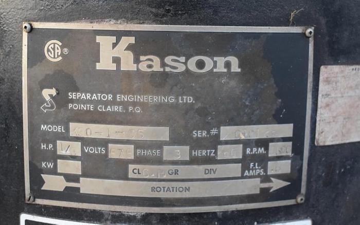 """USED KASON SCREEN, 30"""" DIAMETER, STAINLESS STEEL, SINGLE DECK"""