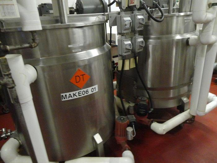 Steam Jacketed Tank With Agitation 1000 LB