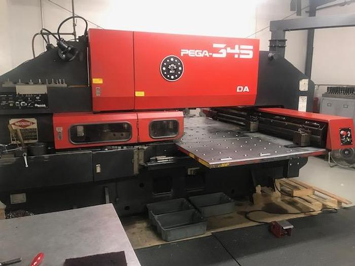 1989 33 Ton Amada Pega 345 Queen CNC Turret Punch