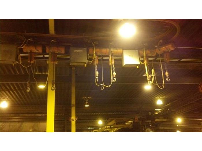 LS Blast /Paint Line: Monorail System w/ 6 Loadstar Cranes