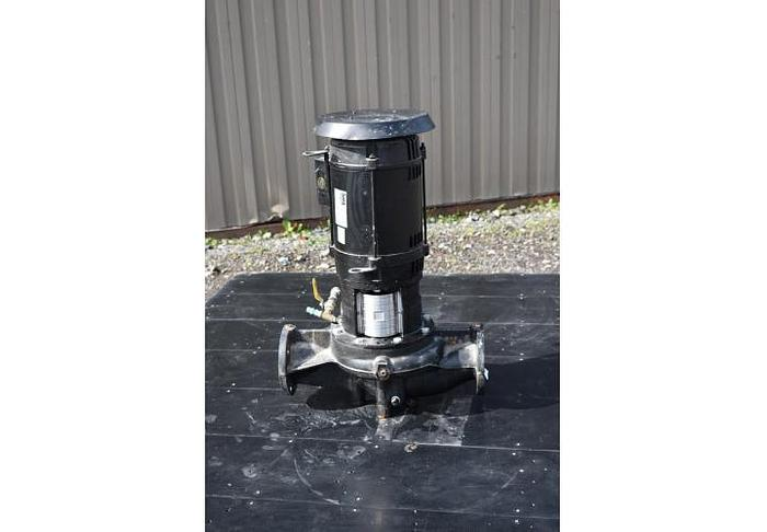 """USED CENTRIFUGAL PUMP, 3"""" X 3"""" INLET & OUTLET, CAST IRON, GRUNDFOS IN-LINE PUMP"""