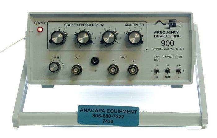 Used Frequency Devices 900 Tunable Active Filter 60Hz/50Hz (7430) G