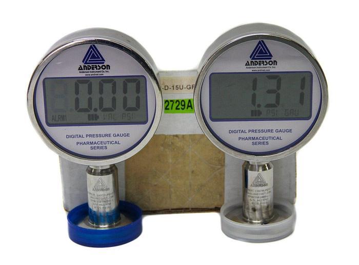 Used Anderson Negele EP063G01000411 Pharmaceutical Digital Pressure Gage Lot  (2729 W