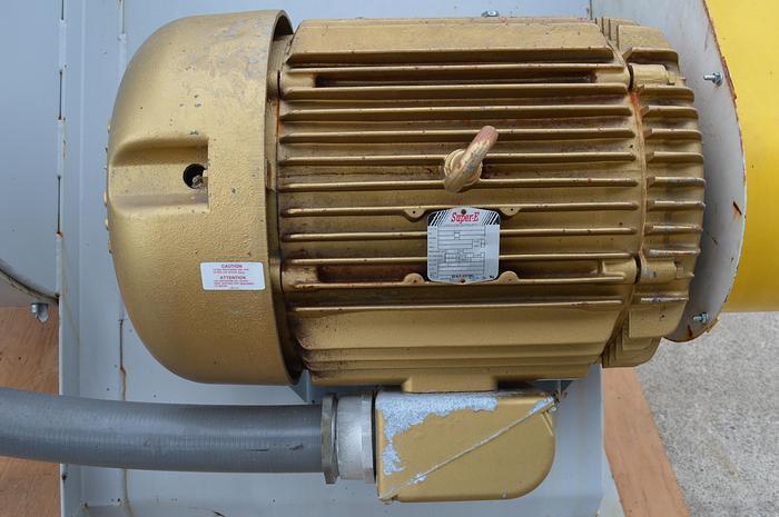 Used Baldor Super -E 75HP electric motor, 200 volt, frame 365T, baldor em43167-8, TEFC