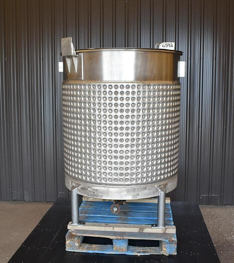 USED 325 GALLON JACKETED TANK, 316L STAINLESS STEEL