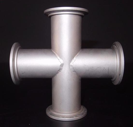 "Used Huntington Vac High Vacuum Vac-U-Flange 4-Way Cross VF-150 2-3/4"" (3286)"