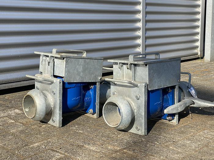 """Used BBA DWI 100 draagbare watermeter met 4"""" Cardan/Perrot aansluiting"""