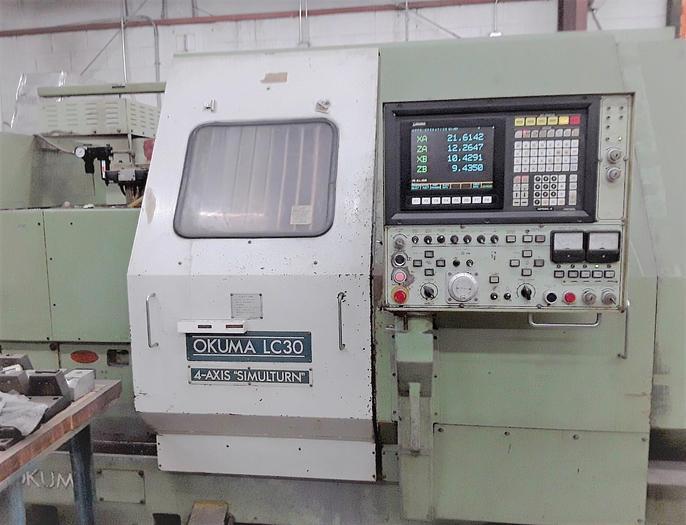 Used 1989 Okuma LC-30-2ST/250 Chucker